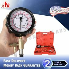 140 PSI Fuel Injection Pump Pressure Injector Tester Test Pressure Gauge Kits US