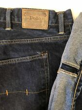 Polo Ralph Lauren HAMPTON STRAIGHT Dark Selvedge Mens Jeans BIG 52B X 30