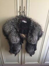 Real abrigo de zorro plateado/cubierta, Cuello, Chal, Saga piel de zorro, Fab!