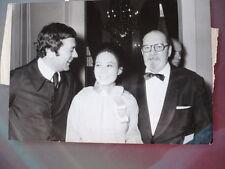 PHOTO DE PRESSE ORIGINALE PELOTE BASQUE 1975  MICHEL OLIVER ANDRE COURREGES