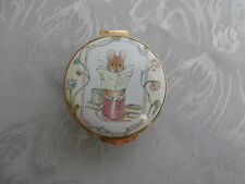 CRUMMLES BEATRIX POTTER THE TAILOR OF GLOUCESTER ENAMEL TRINKET PILL BOX RARE