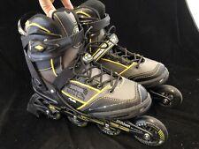 Roller Derby AERIO Q-60 Gold 7 Mens Roller Derby Skates Size 9 Black Yellow