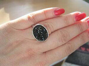 Ortiz Swarovski Crystal Oval Ring Size N Brand New in Original Packaging and Bag