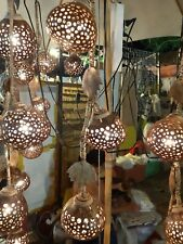 Coconut Shell Lamp hanging Shaded Lamp 3 Balls Home Decorate