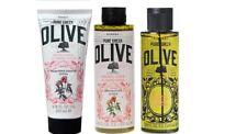 Korres Natural Pure Greek Olive VERBENA Eau De Cologne Shower Gel & Body Milk