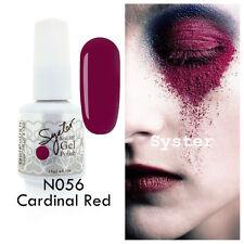 SYSTER 15ml Nail Art Soak Off Color UV Lamp Gel Polish N056 - Cardinal Red