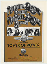 Atlanta Rhythm Section Tower Of Power 1978 Las Vegas Concert Handbill / Postcard