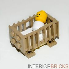 Custom LEGO Furniture: Baby's Crib - Kit w/ All New Parts & Instructions   [bed]