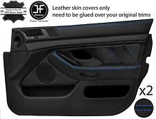 Blue Stitch 2X Front Full porte carte en cuir couvre Fits BMW 5 Series E39 95-03