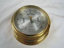 VINTAGE COMPENSATED GERMANY NAUTICAL MARITIME WALL BAROMETER NO TARNISH WORKS