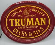 RARE Truman London Brewers Beer Metal oval Bar Pub Serving Tray Hanbury & Buxton