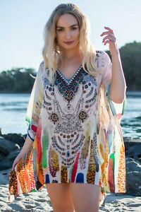 Viscose Kaftan Top with Embellishment ~ Resort wear Caftan
