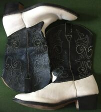 Custom Boots Specially Made Boots Model 13827 White/Black