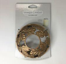 New Yankee Candle Matte Copper Leaves Autumn Fall Illuma lid Candle Jar Topper