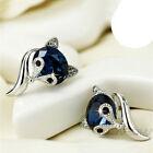 Fashion Fox Cubic Zirconia 925 Silver Stud Earrings Women Jewelry Gifts A Pair