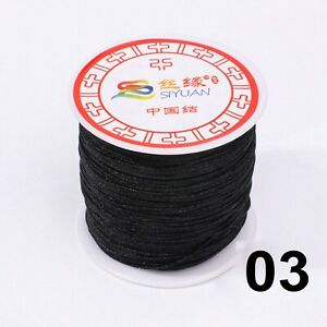 110 Yards Nylon String Chinese Knotting Thread 0.8mm Braid Rattail Cord Rope