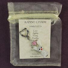 BUNNY RABBIT CHARM Totem Lampwork Heart Amulet Talisman Love Attraction Magic