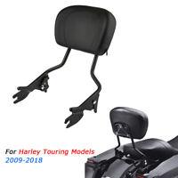 Detachable Passenger Sissy Bar Backrest For Harley Touring Street Glide 2009-18