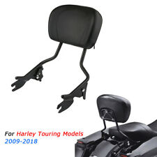 Detachable Passenger Sissy Bar Backrest For Harley Touring Street Glide 2009-18