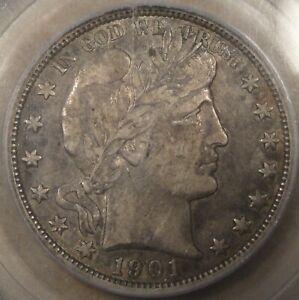 1901-O Barber Half Dollar 50c PCGS Certified VF35 CAC