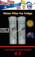 2 X Fisher Paykel Replacement Fridge Water Filter 836848