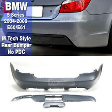 M Tech Style Rear Bumper No PDC Unpainted For BMW 2004-2009 5 Series E60 / E61
