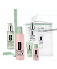 Clinique Great Skin Full Sz + Travel 7pc Set Oily Lotion 3 Liquid Soap Jelly NIB