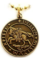 KNIGHTS TEMPLAR CRUSADER SEAL Crusaders Pendant Necklace w/ball chain