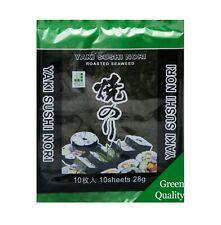 Yaki Sushi Nori Blätter 10 Blatt - 25g Algen Sushi Seetang geröstet grün