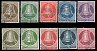 Berlin 1951-1952 FREEDOM BELL USED #9N70-9N79 CV$227.65