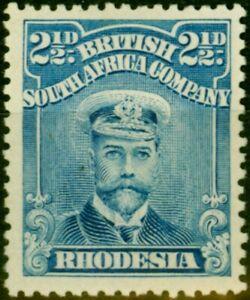 Rhodesia 1913 2 1/2d Blue SG201 Fine Mtd Mint