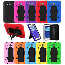 Heavy Duty Armor Hybrid Cover Case for Samsung Galaxy Tab A E 2 3 4 S S2 Lite