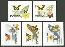 ST THOMAS & PRINCE KOREA ANGOLA VARIOUS BUTTERFLIES FLOWERS FUNGI M/SHEETS  MNH