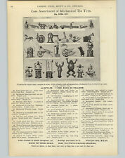 1905 PAPER AD Mechanical Tin Toys Dog Duck Frog Monkey Acrobats Bear Soldiers