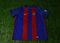 BARCELONA BARCA SPAIN 2016/2017 FOOTBALL SHIRT JERSEY HOME NIKE ORIGINAL KIDS XL