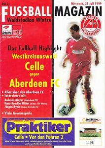 Celle v Aberdeen 21 Jul 1999