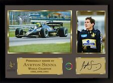 Ayrton Senna signed autographed Memorabilia A Formula 1 JPS Team With frame