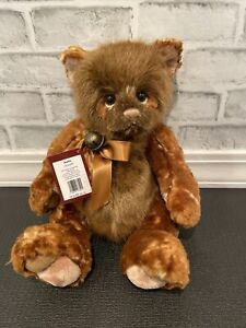 """Waffle, a 15"""" Bear from the Charlie Bears Secret Collection"""