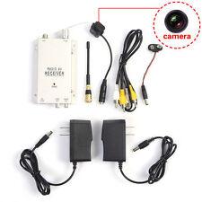 Wireless Home Security Nanny Camera Hidden Spy Pinhole LED Complete System dis
