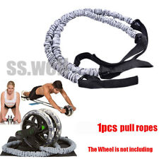 1pcs Double Wheels Ab Roller Pull Rope Waist For Abdominal Slimming Equipment