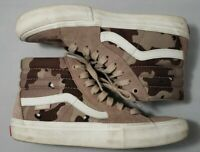 VANS Pro Classics Mens Size 6 High Top Suede Shoes Camo Off The Wall 721454