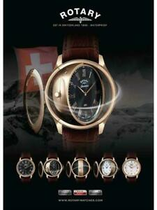 Men's Rotary Revelation GS02967/06/10 Dual Face Rose Gold Case Swiss Leather