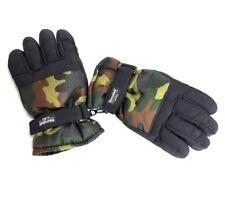 (6113) Thinsulate Insulation 40 Gram Winter Snow Ski Gloves Camo Size 18 (XL)