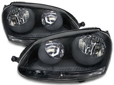 2005-2010 Vw Volkswagen Jetta Fits 06-09 Gti Halogen Type Black Headlights Pair