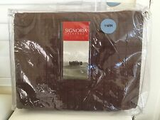 Signoria Firenze Luxury Italy Masaccio Chocolate Twin Quilted Coverlet $365 New