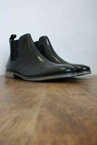Stanford Black Leather Chelsea Boots