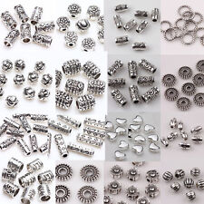 Wholesale Lots Silver Plated Loose Spacer Beads for Bracelet Jewelry Making Diy