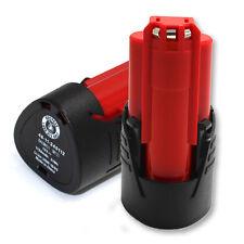 2 Pack Milwaukee 48-11-2401 M12 12V 12 Volt Red Lithium-ion Extended Battery
