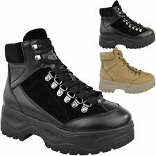 Womens Ladies Hi Top Wedge High Platform Trainers Sneakers Boots Hiking Walking