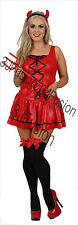 Adult Ladies Sexy She Devil Halloween Womens Horror Fancy Dress Costume (EL)